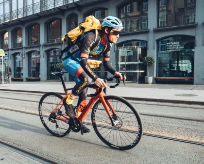 Stephan Rabitsch is probably the fastest bicycle courier in Austria